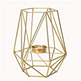 Hanks' shop Candelabro moderno creativo candelabro, minimalista geométrico de hierro forjado moderno candelabro, portavelas decorativos