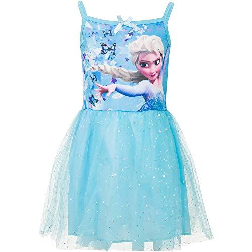 Frozen Die Eiskönigin Anna ELSA Kleid Sommerkleid Tüllkleid blau (104)