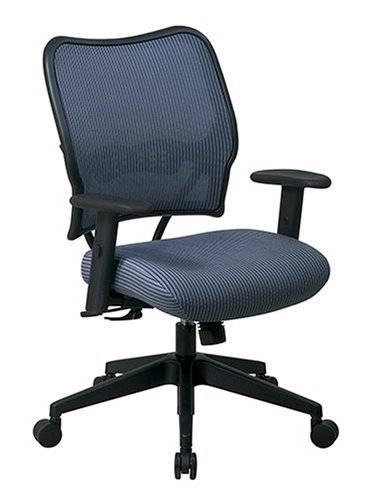 SPACE Seating Deluxe VeraFlex Fabric Seat and Back, 2-to-1 Synchro Tilt Control and 2-Way Adjustable Arms Managers Chair, Blue Mist