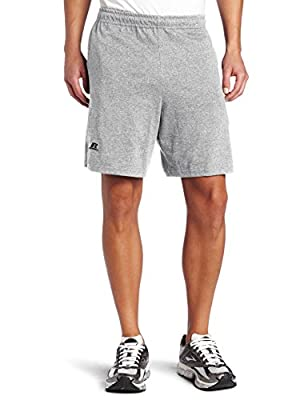 Russell Athletic Men's Cotton Baseline Short with Pockets, Oxford, Large