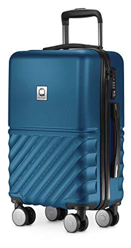 HAUPTSTADTKOFFER - Boxi - Handgepäck 55 x 35 x 20 cm Hartschalen-Koffer Trolley Rollkoffer Reisekoffer TSA, 4 Rollen, 55 cm, Dunkelblau