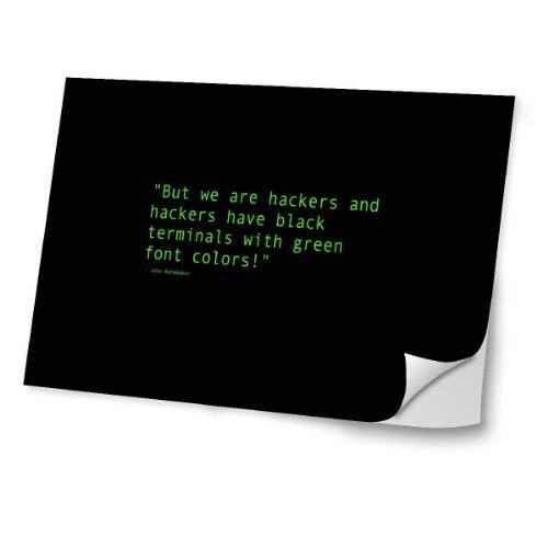 Virano Zeug 10054, We Are Hackers, Skin-Aufkleber Folie Sticker Laptop Vinyl Designfolie Decal mit Ledernachbildung Laminat und Farbig Design für Laptop 11.6