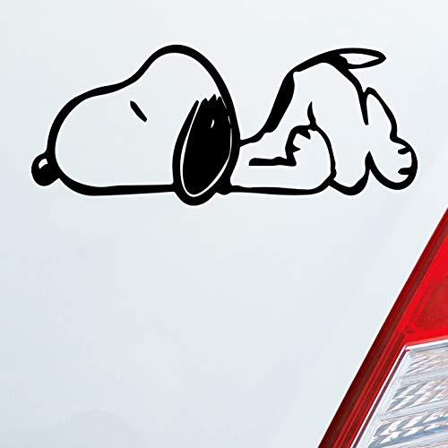 Auto Aufkleber in deiner Wunschfarbe für Snoopy Fans Die Peanuts Charlie Brown 12x5cm Autoaufkleber Sticker Folie