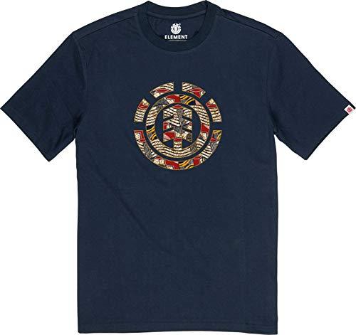 Element Origins Icon SS T-Shirts, Chemises et Polos Homme, Bleu (Eclipse Navy), S
