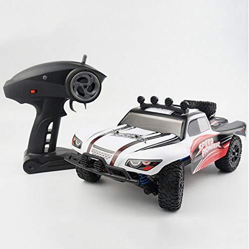 Poooc Coche eléctrico RC,  1/18 escala racer rtr hobby juguete 2.4GHz Radio controlado Radio USB Cargando 4WD OFF OFF VEHÍCULO DE VÍCULO DE ALTA VETERO 40km / h Control remoto Monster Trucks