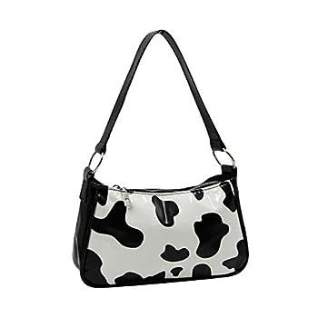 Fashion Cow Print Shoulder Bag Clutch Purse Underarm Handbag Satchel Zipper Tote Bag Purse for Women Girls