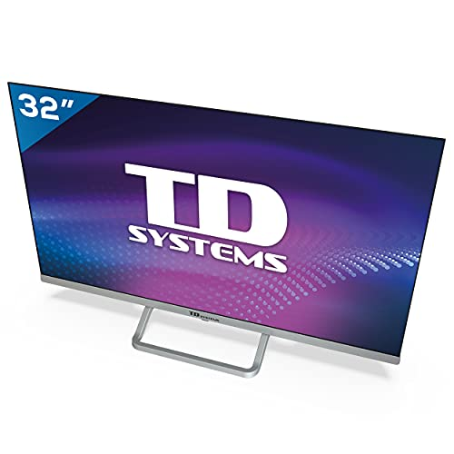 TD Systems K32DLX11HS - Televisor Smart TV 32 Pulgadas Android 9.0 y HBBTV, 800 PCI Hz, 3X HDMI, 2X USB. DVB-T2/C/S2, Modo Hotel. Televisiones