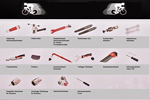 Universeller 25 tlg. Fahrrad Werkzeugsatz Bremsen Reifen Kette Shimano Reparatur - 3
