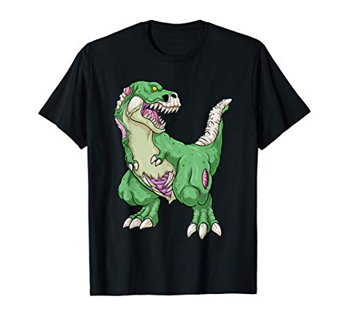 Zombie Saurus Halloween Saurus bambini Dinosauro T Rex Maglietta
