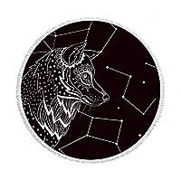マンダラマイクロファイバー生地タオルビーチタオル大人のヨガマットタッセルボヘミア大ラウンドタオル綿 150 センチメートルタペストリー家の装飾