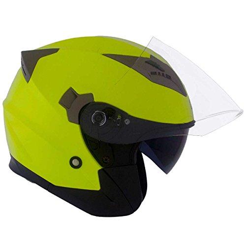Casco Moto Jet amarillos homologado - Doble visera - CRUIZER