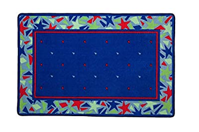 Delta Children Soft Kids Area Rug for Boys, (2.5 Foot X 4 Foot), Star Gaze/Red, Blue & Green