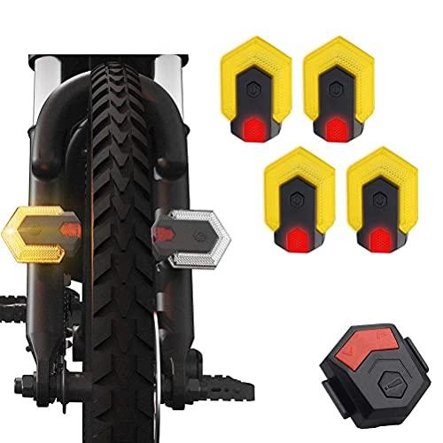 Deeabo Fanale Posteriore per Bici, Indicatori di Direzione per Bici Fanale Anteriore E Posteriore con Telecomando, Ricarica USB Fanale Posteriore Impermeabile per Bici da Ciclismo Allaperto