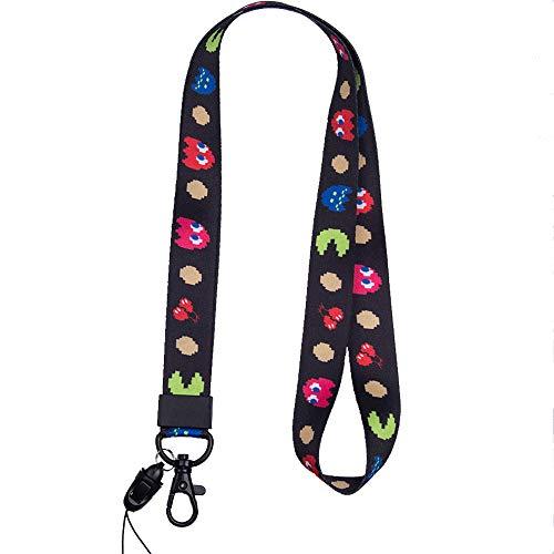 Cordino da collo di alta qualità, con stampa colorata su entrambi i lati, ideale per cellulare, badge, chiavi, lettore mp3, chiavetta USB style29