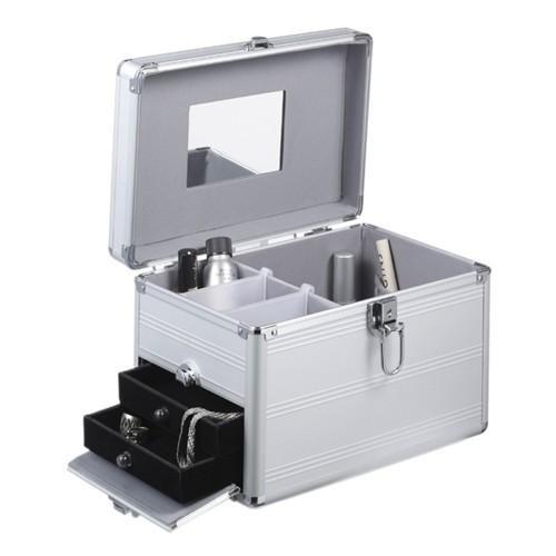 noTrash2003 Kosmetikkoffer Beautykoffer Beautycase aus Aluminium mit Spiegel und ausziehbaren Schubladen