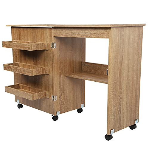 Cerlingwee Mesa De Costura, Práctica Estable, Fácil De Usar para Fábrica
