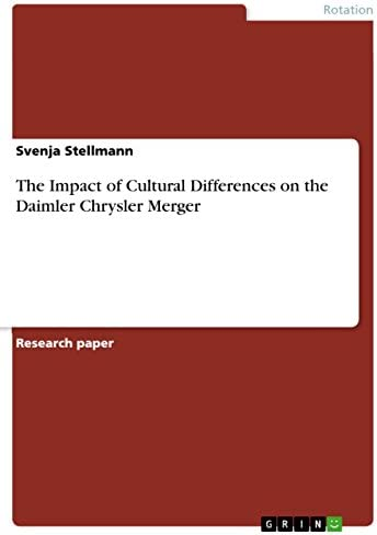 The Impact of Cultural Differences on the Daimler Chrysler Merger product image