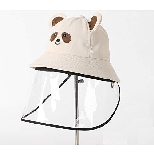 ZHANG HONG-tapijt Z-H Anti druppeltjes visser hoed zon hoed kind kap bedekken haar gezicht masker verwijderbare pet A Beige