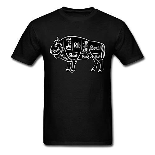 Bison Grill Map Men's T-Shirt Blackxxl