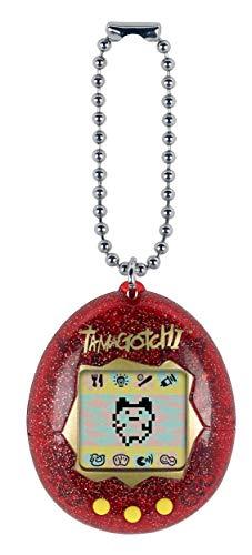 Tamagotchi Friends 42813 Original Tamagotchi Red Glitter-Feed, Care, Nurture-Virtual Pet con Cadena para On The Go Play