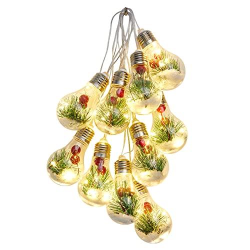 Filo di legno di pino di Natale, 4 m, luci a LED per decorazione natalizia, fiocco di neve, luci a filo di rame per interni, camera da letto, negozio, decorazione per vetrine