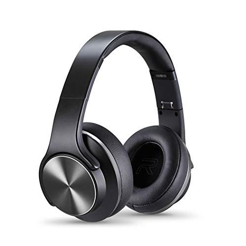 Auricular bluetoothAuriculares estéreo de alta fidelidad con modos de bajos, plegables y livianos, por cable y inalámbrico incorporados en MIC para teléfonos celular black