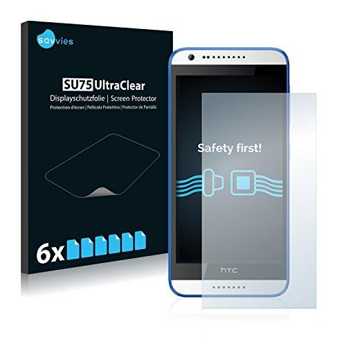 Savvies 6X Schutzfolie kompatibel mit HTC Desire 620 Bildschirmschutz-Folie Ultra-transparent