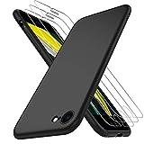AOYATE Custodia Cover iPhone SE 2020 + Vetro Temperato iPhone SE 2020 (3Pezzi), HD Anti-graffio...