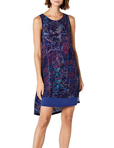 Desigual Damen Vest_ERIC Kleid, Blau (Spectrum Blue 5202), X-Small
