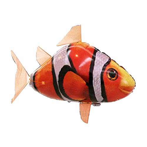 Kengsiren Remote-Controlled Flying Fish Remote-Controlled Clownfish Flying Shark Remote-Controlled Toys Fish That Can Swim in The Air Children's Toys Kite
