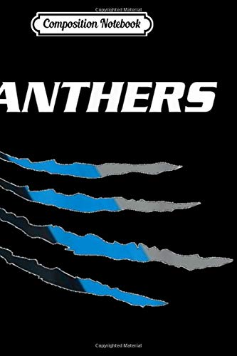 Composition Notebook: Football fans premium Panthers 704 980 Journal/Notebook Blank Lined Ruled 6x9 100 Pages