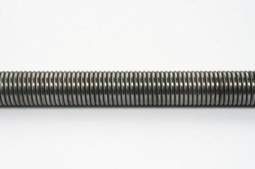 WAMO 1 m Zugfeder 3 mm Draht 20 mm Federdurchmesser ohne Öse Stahlfeder