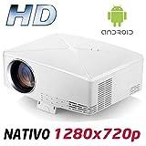 Proyector Full HD 1080P, Modelo HD430 (2020 Nuevo), Proyector Barato con Android Maxima luminosidad Portátil LED Cine...