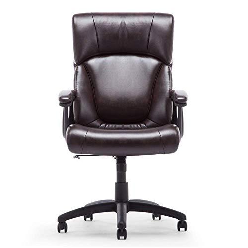 WSDSX Schlafzimmer Home Office Schreibtischstuhl Moderne Einfachheit Rückenlehne Gaming Stuhl 360 ° Drehung PU Lederkissen Brown Boss Stuhl Lagergewicht 150kg