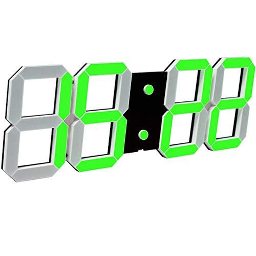 LYM klokken wandklok digitaal groot display LED wekker zware slaap 16 alarmen instellingen tafelklokken woonkamer decor slaapkamer temperatuur 20 m afstandsbediening dimmer datum stopwatch hol wandklokken