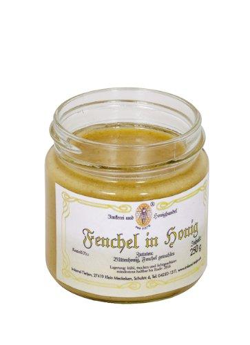 Fenchel in Honig 250g – Honig mit gemahlenem Fenchel, ohne Zusätze (von Imkerei Nordheide)