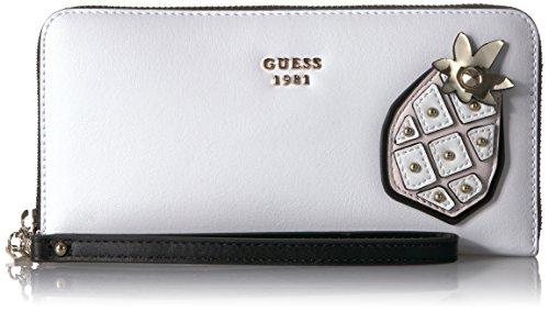 GUESS Damen Handgelenkriemen, Handtasche, Weiß/Mehrfarbig, Einheitsgröße