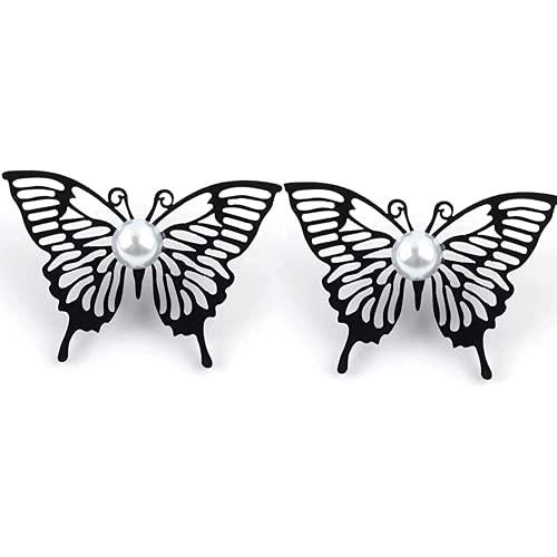 Dlcvko Pendientes Femeninos Coreana Pendientes de Mariposa Negra Girl Elegant Mariposa Pendientes...