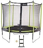 Kangui - Trampoline de Jardin 305 cm + Filet de sécurité + échelle JUMPI Pop 300
