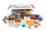 Tin Roof Crafts Giant Arts and Crafts Supplies for Kids - Kit for Toddlers Age 4 5 6 7 8 9 – D.I.Y Crafting Collage – Loads of Supplies – Pipe Cleaners - Bag Rainbow Colored Small Pompoms 3/8'