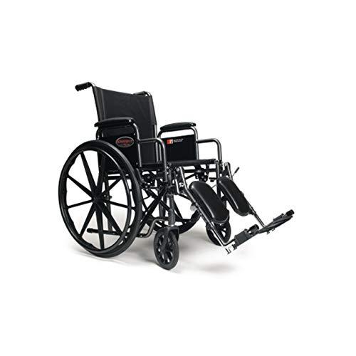 Everest amp Jennings Advantage LX Wheelchair Detachable Desk Arms amp Elevating Legrests 18quot Seat Silvervein Color