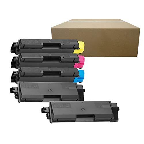 Inktoneram Compatible Toner Cartridges Replacement for Kyocera-Mita TK-582 TK582 P6021cdn FS-C5150DN ([2-Black, Cyan, Magenta, Yellow], 5-Pack)