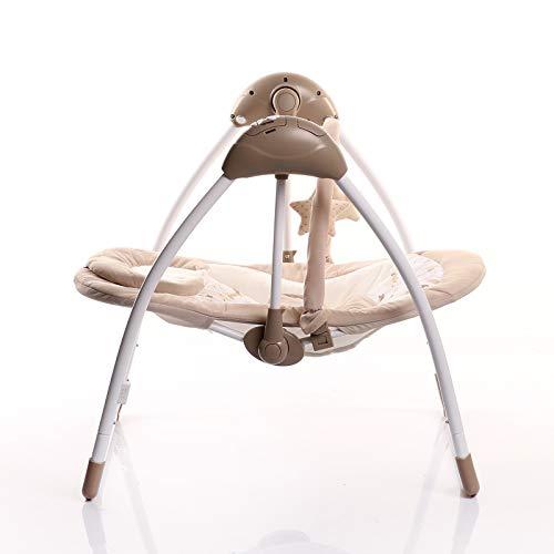 u&h Balancin Bebe hamacas bebesBaby Swing Plus Confort automático Silla de bebé coaxial Artefacto bebé recién Nacido coaxial Dormir Cuna Cama con Dormir del bebé Silla de reclinación Confortando