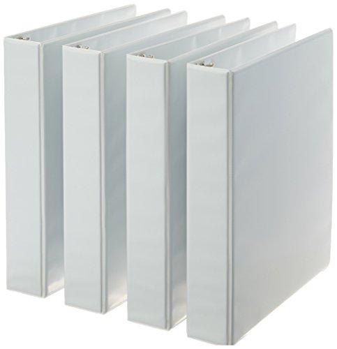 Amazonベーシック 3リングバインダー ホワイト リングサイズ約4cm 4個パック