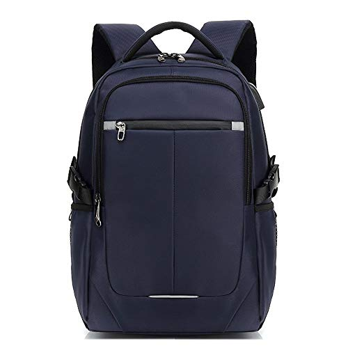 XinMeiMaoYi Outdoor Backpack Men's Backpack Travel Leisure Business Computer Korean Fashion Trend Bag Travel Backpack (Color : Blue)
