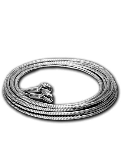 """Cable Ties Cable Wire Boat Winch Cable Steel Cable Rope Winch Hook Cable Tie Wire Rope Security Cable Steel Wire Boat Trailer Winch Aircraft Cable 100 ft 5/16"""" Super-Deals-Shop"""