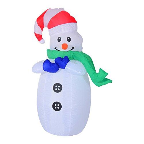 SSITG HomCom LED Père Noël bonhommes gonflable Décoration de Noël lumineux décoratif