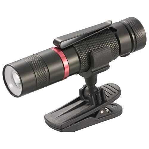 オーム電機 【S形クリップ付属】LEDズームライト 耐水形(135lm/単3形×1本付属/連続点灯時間4.2時間) 黒 (約)外径20x全長90mm LHA-CT3Z-K