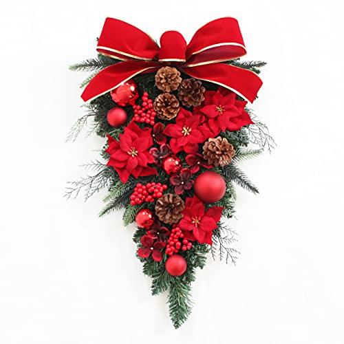 グランドグルー クリスマスリース クリスマス飾り クリスマス玄関飾り スワッグ 造花 アーティフィッシャル...