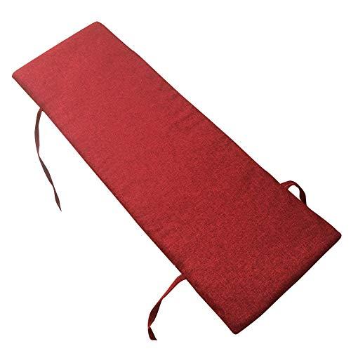 Meltset Weiche, dicke Bank-Auflage für Sitz, rechteckig, bequeme Stuhl-Rückenlehne, Gartensofa für Außen- und Innenbereich, Terrasse, Schaukel, Metall- oder Holzbank (80 x 30/rot)